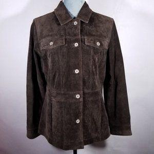 Eddie Bauer Authentic Seattle Suede Leather Jacket